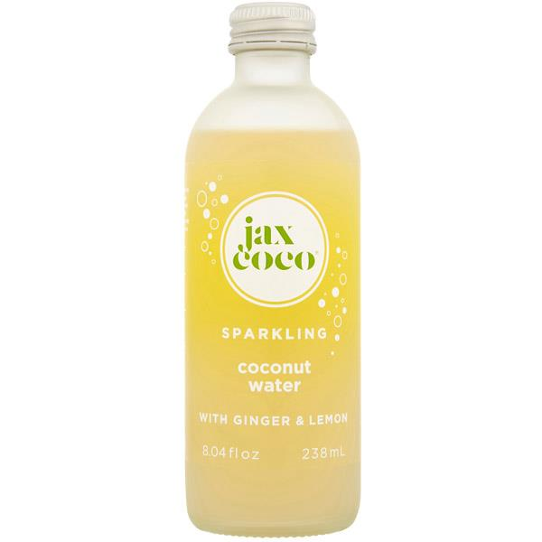 Jax Coco Sparkling Coconut Water with Lemon, NRB 238ml x 12