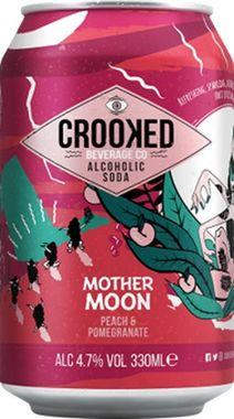 Crooked Alcoholic Soda - Mother Moon - Peach and Pomegranate 330 ml x 12 (2)