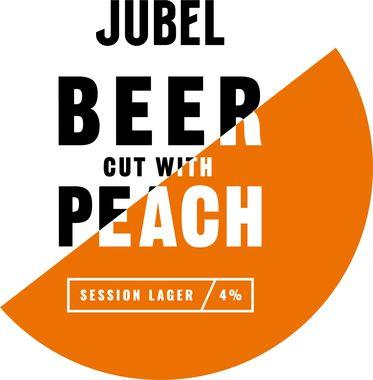 Jubel Alpine Beer cut with Peach, Keg 30 lt x 1