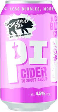 Orchard Pig Pink Cider, Can