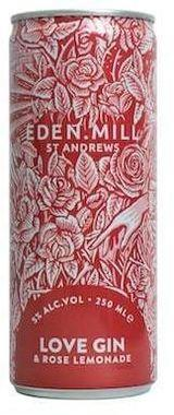 Eden Mill Love Gin & Rose Lemonade Can 250 ml x 12