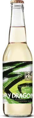 REaL Kombucha Dry Dragon - non alcoholic alternative to citrusy white wine 275 ml x 24
