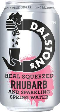 Dalston's Rhubarb Light - No added sugar, CAN 330 ml x 24