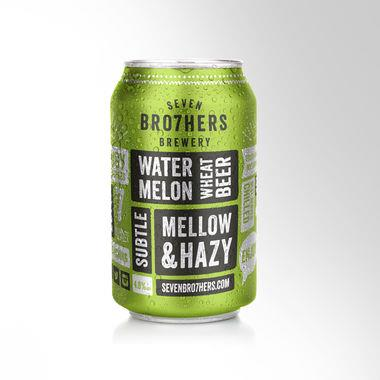 Seven Bro7hers Watermelon Wheat Beer, Can 330 ml x 12