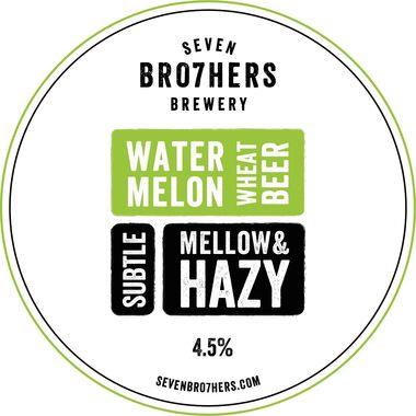 Seven Bro7hers Watermelon Wheat Beer, Keg 30 lt x 1