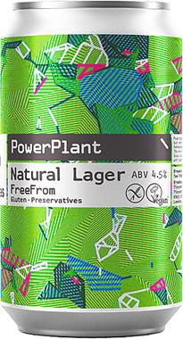Two Tribes PowerPlant Natural Lager (Gluten Free), Can 330 ml x 24
