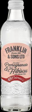 Franklin & Sons Infused Soda Pomegranate, Hibiscus & Rose, NRB 275 ml x 12