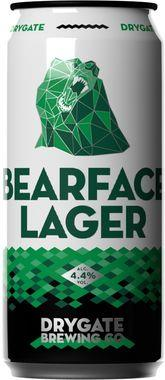 Drygate Bearface Lager, Can 440 ml x 12