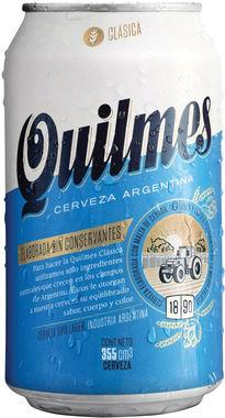Quilmes Clasica Lager - 35.5cl, Can 355 ml x 24