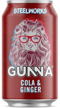 Gunna Steelworks Cola & Ginger, Can 330 ml x 24