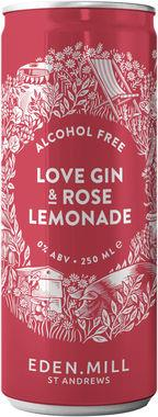 Eden Mill 0% Love Gin & Rose Lemonade 250 ml x 12