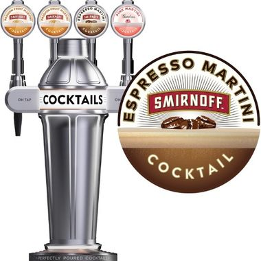 Smirnoff Espresso Martini BIB (draughtcocktails@diageo.com for installs)
