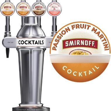 Smirnoff Passion Martini BIB (draughtcocktails@diageo.com for installs)