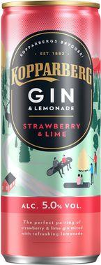 Kopparberg Gin Strawberry & Lime, Can 250 ml x 12