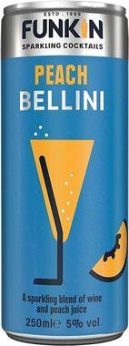 Funkin Peach Bellini, Can 250 ml x 12