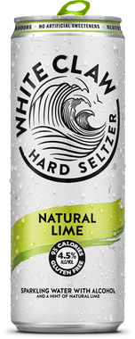 White Claw Hard Seltzer Natural Lime, Can