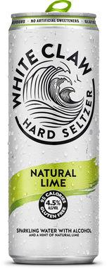 White Claw Hard Seltzer Natural Lime, Can 330 ml x 12