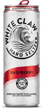 White Claw Hard Seltzer Raspberry, Can 330 ml x 12