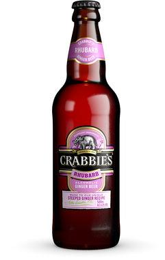 Crabbies Rhubarb Ginger Beer 4%, NRB 500 ml x 12