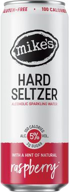 Mike's Hard Seltzer Raspberry, Can