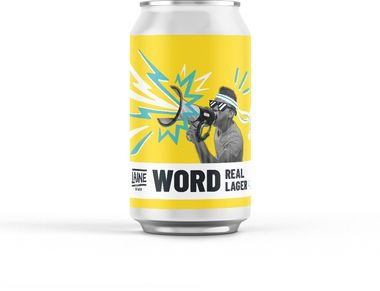 Laine Brew Co, Word Lager Can