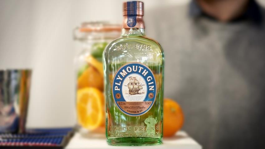 Bottle of Plymouth Gin.JPG